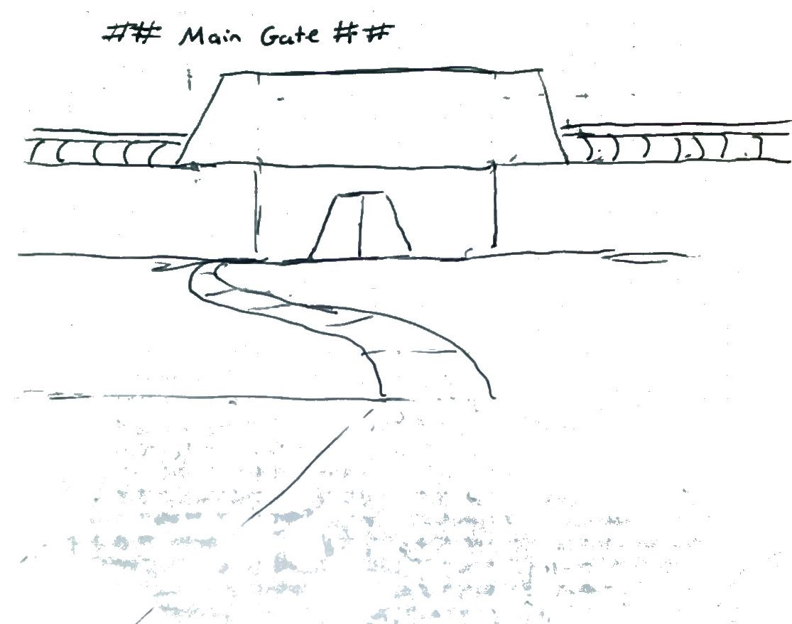 rough sketch of gate